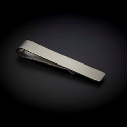 Pince à cravate - 50x8mm - acier inox - couleur métal brossé (finition mate)