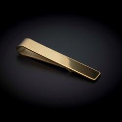 Pince à cravate - 50x8mm - acier inox - couleur or (finition polie)