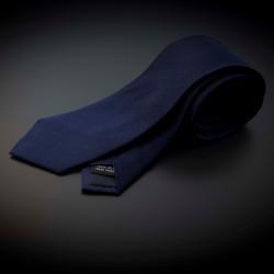 Cravate homme pure soie - couleur unie bleu foncé