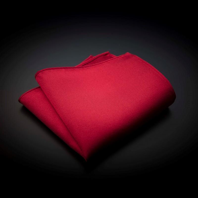 Pochette pure soie - couleur unie rouge