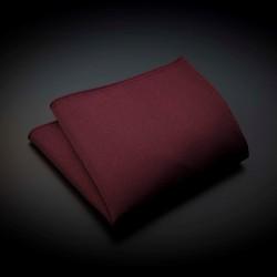 Pochette pure soie - couleur unie bordeau