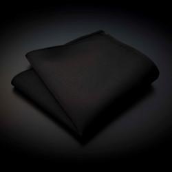 Pochette pure soie - couleur unie noir
