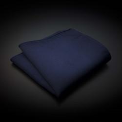 Pochette pure soie - couleur unie bleu foncé
