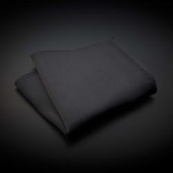 Pochette pure soie - couleur unie gris foncé (anthracite)