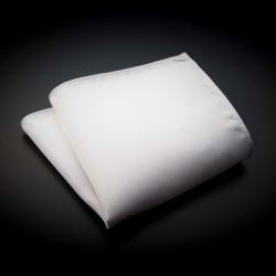 Pochette pure soie - couleur unie blanc