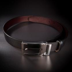 Ceinture pour costume homme - 3,5x130cm - cuir véritable - couleur noir